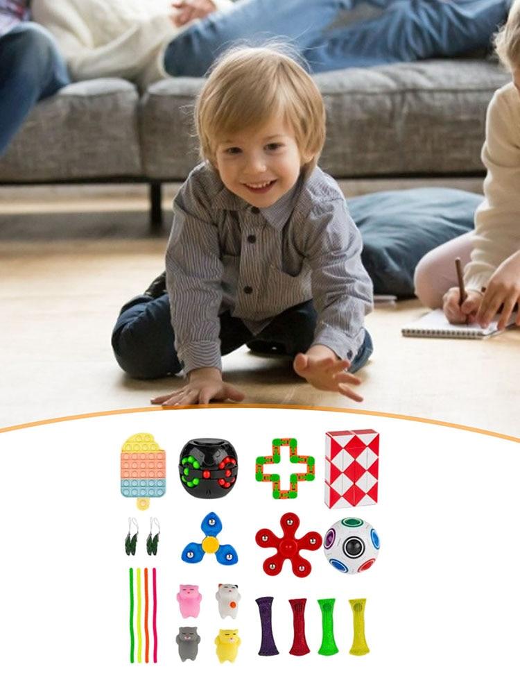 Sensory Fidget Toy Set Decompression Stress Reliever Autism Anxiety Relief Stress Fidget Sensory Fidget Toys For Kids Adults enlarge