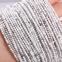 natural stone beads white turquoises beads loose beaded for jewelry making beadwork diy necklace bracelet accessories wholesale