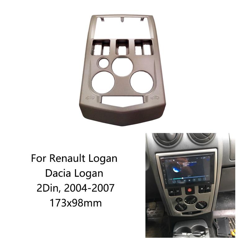 2Din фасция подходит для Renault Logan Dacia Logan 2004-2007 подходит для Renault dvd плеер панель пластина фасции рамка в набор крепления
