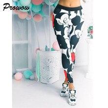 Mallas de Mickey para mujer, Leggings elásticos de dibujos animados para gimnasio, mallas femeninas de Mickey, pantalones de chándal para mujer