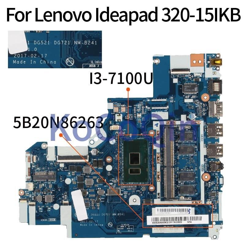 Placa-mãe do Portátil para Lenovo Kocoqin Ideapad Mainboard 5b20n86263 Nm-b241 Ddr4 320-15ikb I3-7100u