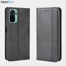 For Xiaomi Redmi Note 10 10 Pro Case Book Wallet Vintage Slim Magnetic Leather Flip Cover Card Stand