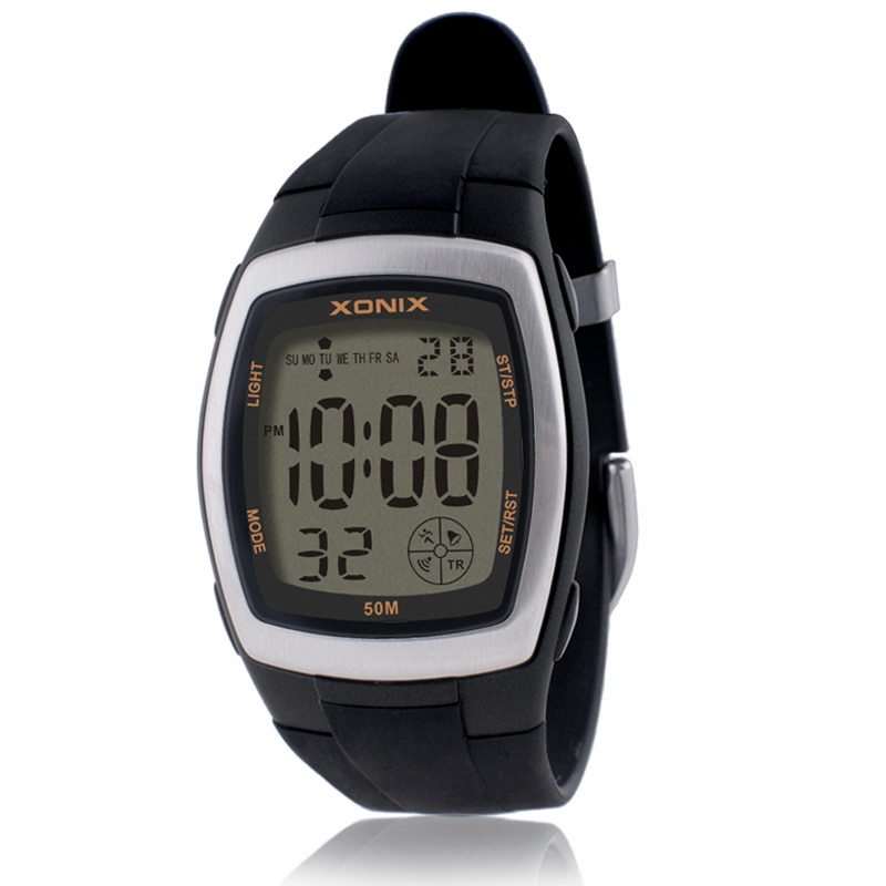 Precision sports watch men's countdown LED digital student stopwatch 50M waterproof swimming diving