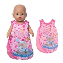 Fit 17 inch 43cm Baby New Born Doll Clothes Accessories Red Heart Sleeping Bag For Baby Birthday Gif