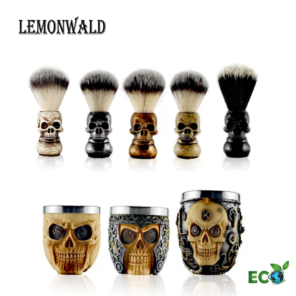 LEMONWALD 100% Silvertip Badger Bristle, Resin handle Shaving Brush Perfect gift for wet shavers birthday or fathers day!