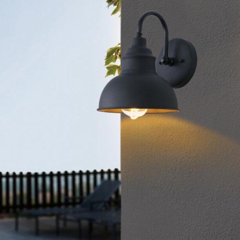 مصباح الجدار الخارجي الرجعية E27 ، شمعدان الفيلا الأوروبية ، مصباح الجدار الخارجي للحديقة ، الشرفة أو المدخل