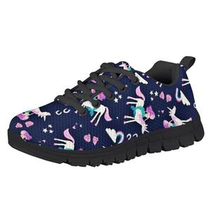 HYCOOL Children Shoes Cute Mermaid Unicorn Fish Scale Pattern School Girls Lightweight Sport Sneakers Kid Footwear Spring Autumn