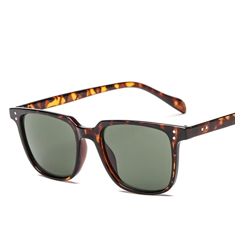 Солнцезащитные очки ZXWLYXGX мужские, брендовые дизайнерские винтажные зеркальные солнечные очки с защитой UV400 в квадратной оправе, летние