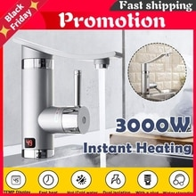3000W Electric Instant Water Heater Tap 360° Rotatable Electric  Hot/Cold Water Faucet Tankless Hea