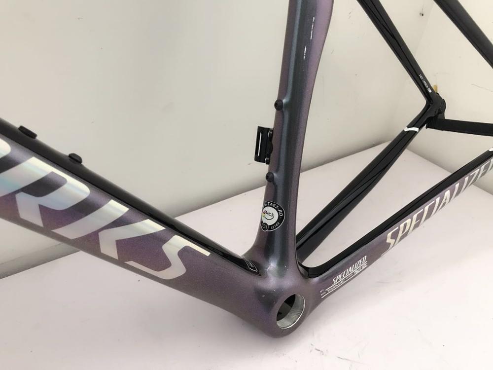 2020 Venta caliente SL 6 Equipo carbono disco marcos azul púrpura camaleón pintura cuadro de bicicleta de carbono con tenedor + auriculares + sillín + barra abrazadera