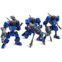 action figure robots model toys for kids mecha warrior building blocks toys for children 7cm anime soldier assemble bricks dolls