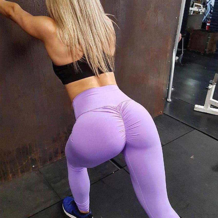 Alta cintura push-up de talla grande gimnasio Leggings Yoga pantalones Sexy ropa Leggins deporte mujeres Fitness para mujeres