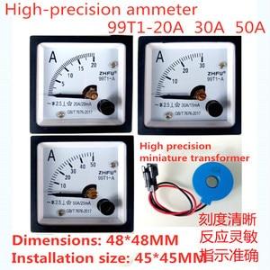 99T1  high precision AC ammeter 99T1-20A/20mA 30A/15mA 50A/25mA and miniature zero sequence current transformer