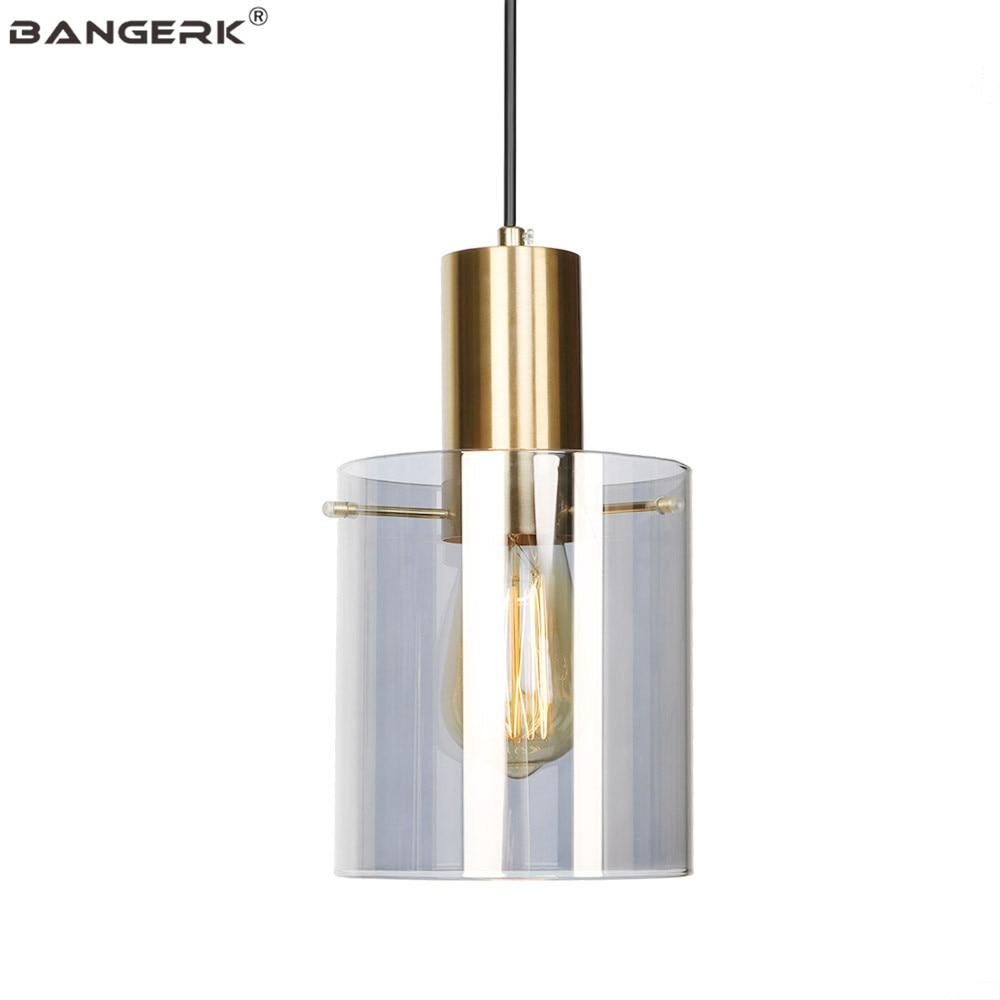 Glass Shade Pendant Lights Nordic Modern LED Hanging Lamp Loft Decor Edison Fixtures Dining Room Bedroom Home Lighting Hanglamp