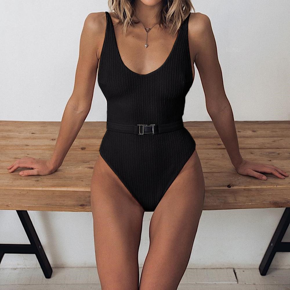 Roupa de banho feminina sensual lisa, uma peça, maiô estilo push up, costas nuas, roupa de praia, monokini, maiô feminino