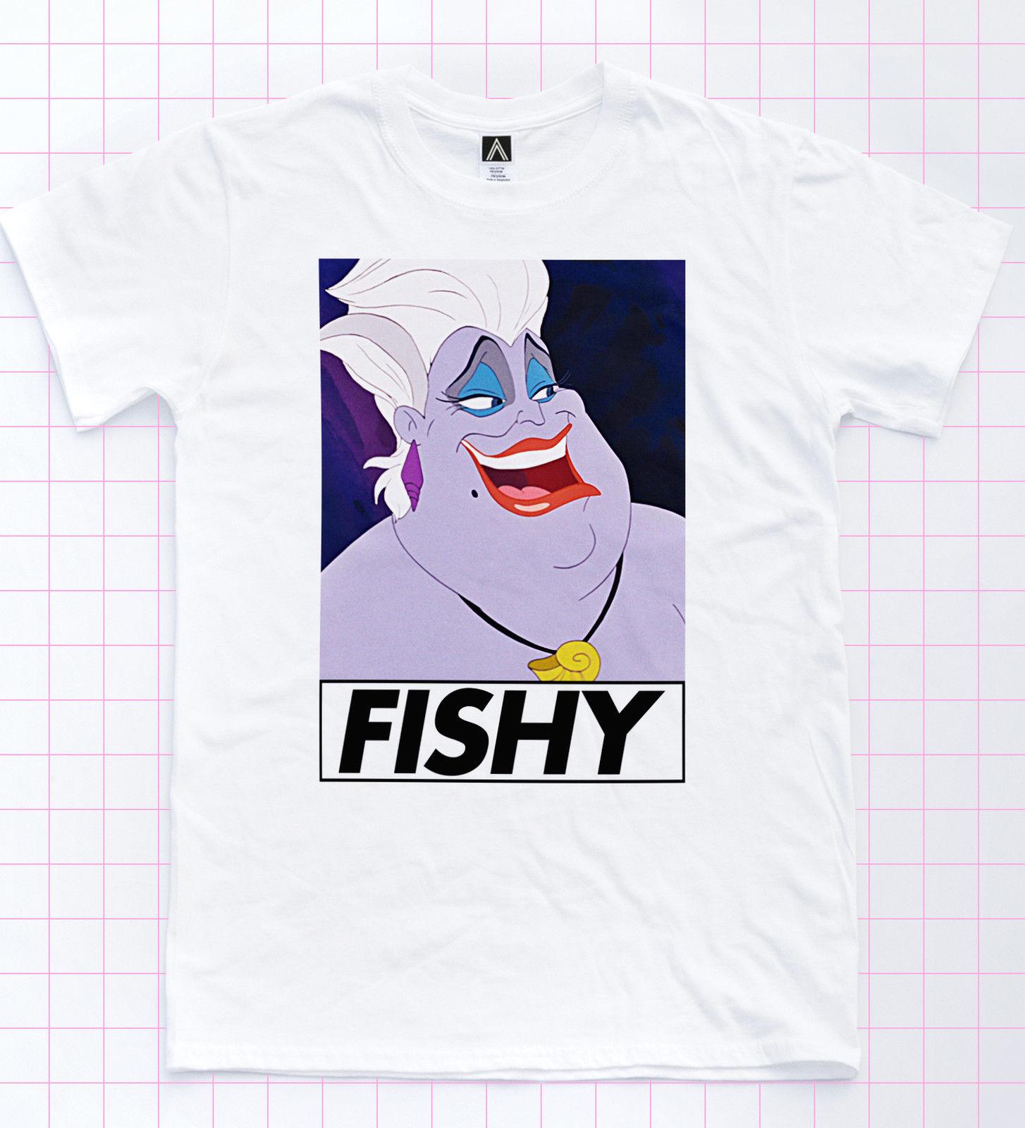 Fishy Ursula Tee Realness servir villano sirena Tee princesa Retro divertido diseño superior estilo nueva moda manga corta divertida