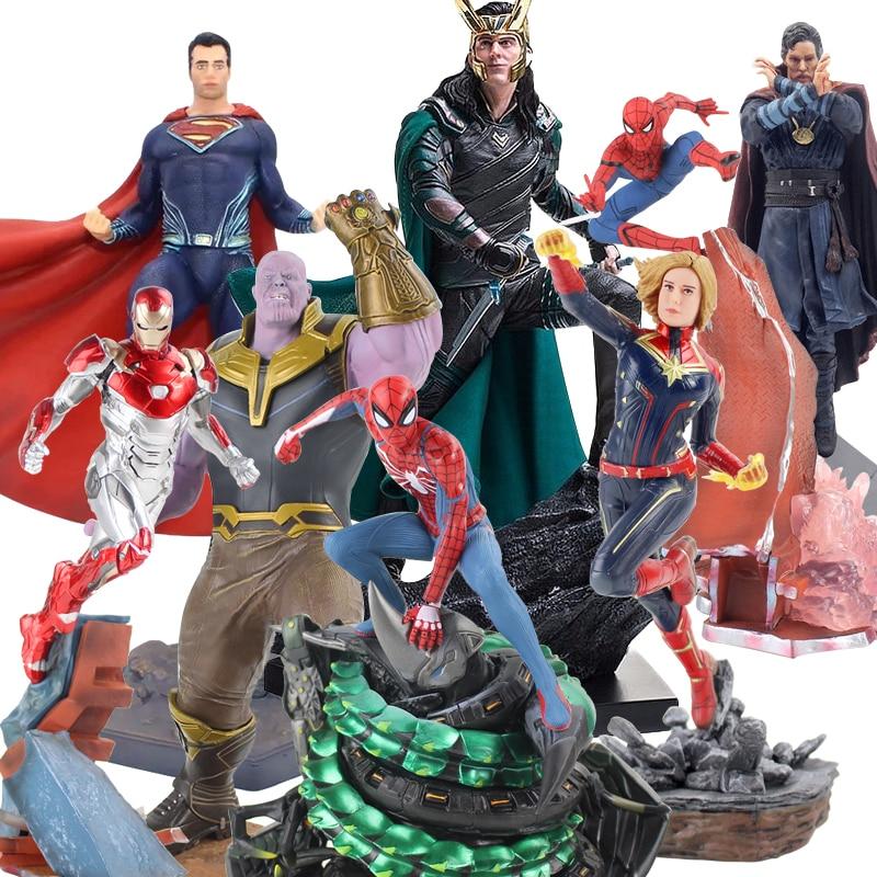 Супер Герои Капитан танос Железный человек Человек-паук данверс статуя ко Железный студии ПВХ Фигурки Игрушка Фигурка Игрушка
