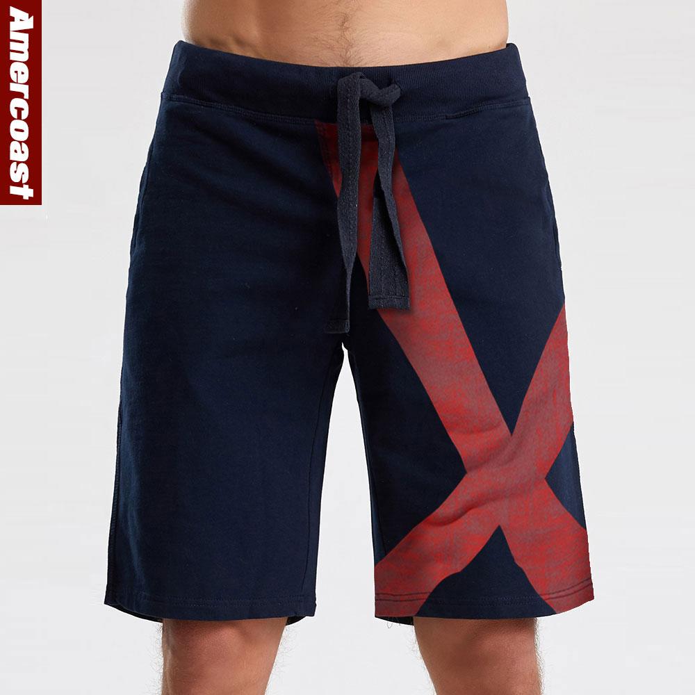 2020 New Shorts Men Hot Sale Casual Beach Shorts AMERCOAST Quality Bottoms Elastic Waist Fashion Brand  Plus Size streetwear