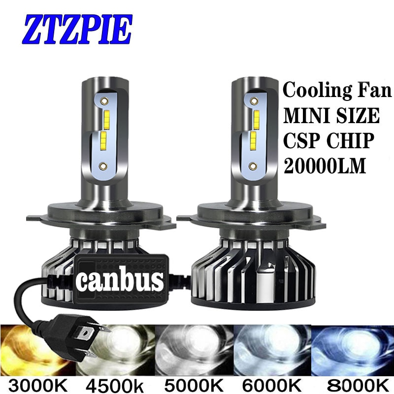 ZTZPIE 20000LM 4500K 6000K 8000K 3000K HB3 HB4 9005 9006 H3 H1 H8 H7 H4 H11 H9 9012 Bulb Canbus Led Car Headlight CSP CHIP 110W