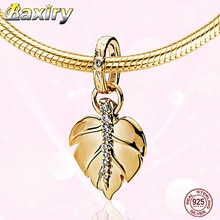 Luxus Blatt Charme Armband DIY Perlen 925 Sterling Silber CZ Perlen Fit Armband Charms Silber 925 Original Perlen Schmuck Machen