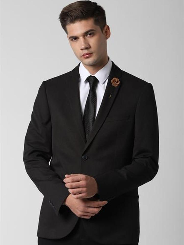 الرجال الدعاوى البدلات الرسمية سليم صالح العريس ارتداء 2021 مخصص فستان أسود