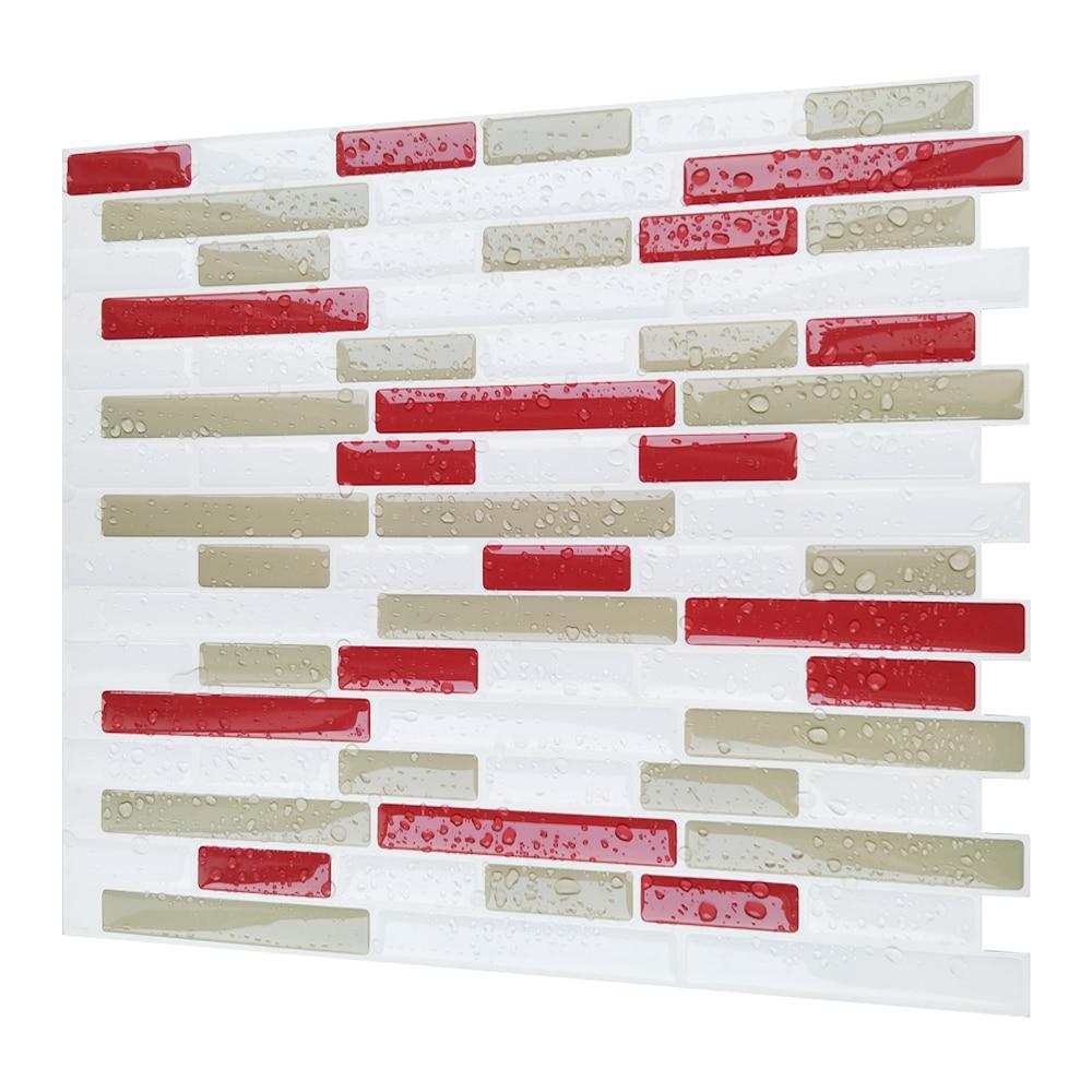 Peel and Stick Self adhesive Backsplash DIY Kitchen Bathroom Home Wall Vinyl Mosaic Tile Stickers