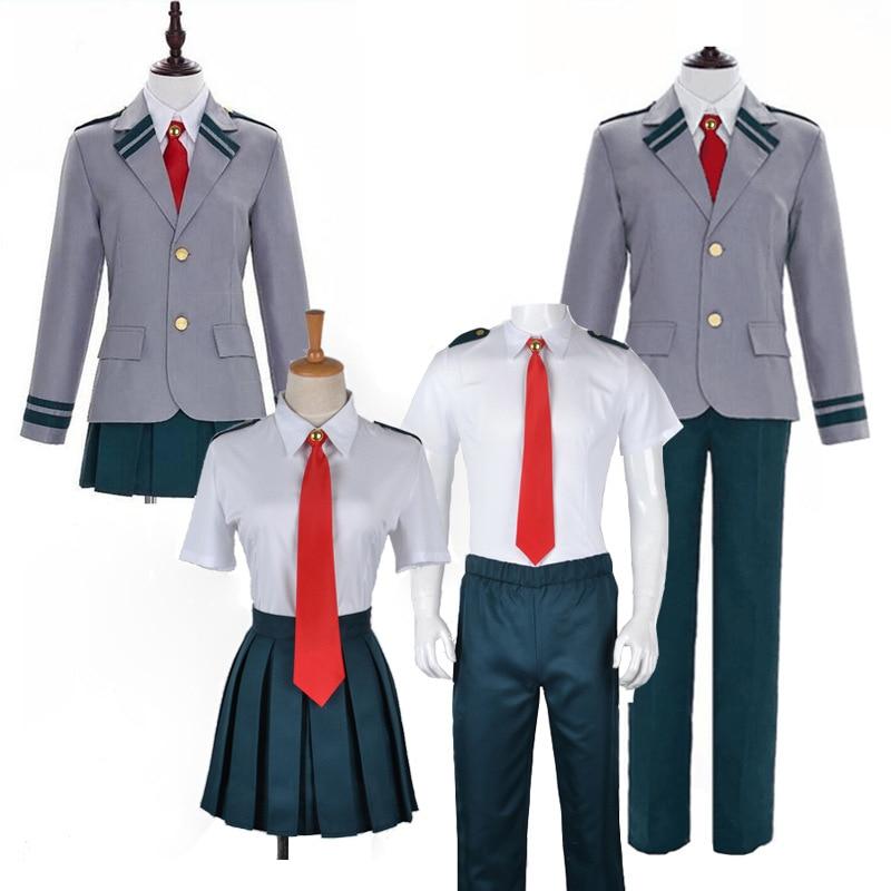Meu herói academia asuitsuyu yaoyorozu momo escola uniforme meu herói academia ochaco uraraka midoriya izuku cosplay traje