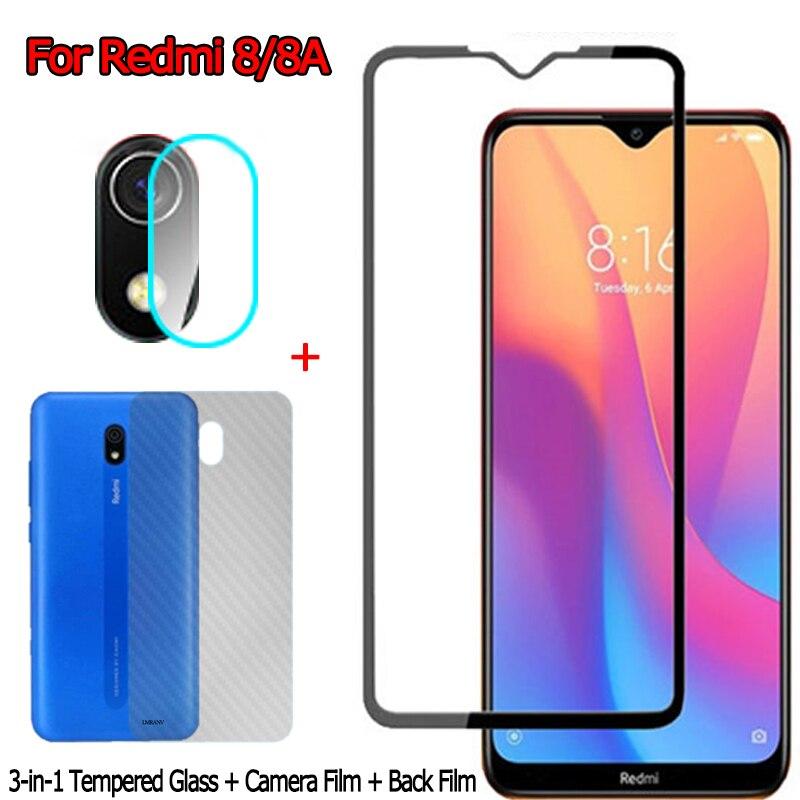 Vorderseite + Rückseite Screen Protector für Redmi-8 EINE Kamera Glas Aufkleber Film Xiomi Redmi 8A Glas Redmi8 Xiaomi Redmi 8 gehärtetem Glas