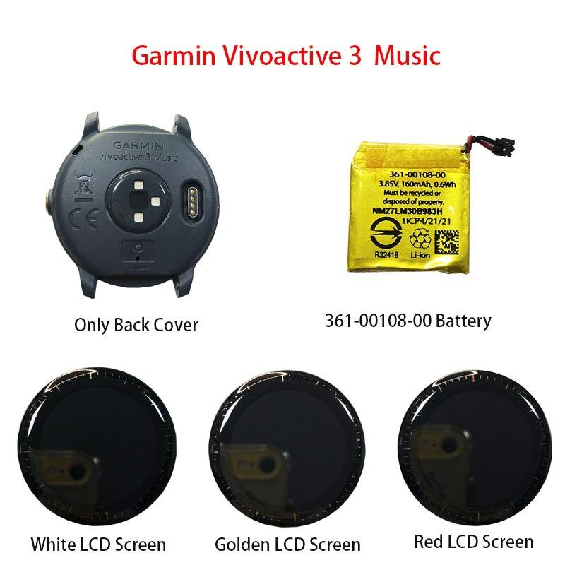 الأصلي الأزرق جراب لظهر الجوال/شاشة LCD/بطارية (361-00108-00) ل Garmin Vivoactive 3 الموسيقى ساعة ذكية إصلاح أجزاء
