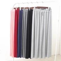 fdfklak modal womens pajama pants sleeping clothes spring summer bottoms high waist loose pinkwine red sleepwear trousers