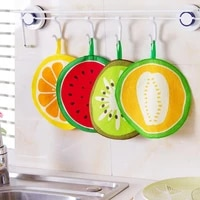 kitchen fruit print hanging hand towel microfiber towels quick dry cleaning rag dishcloth wiping napkin lx8386