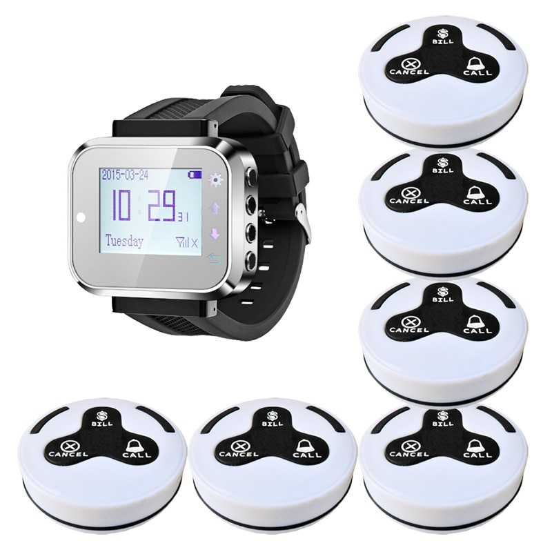 Restaurant Wireless Waiter Pager System For Customer Service