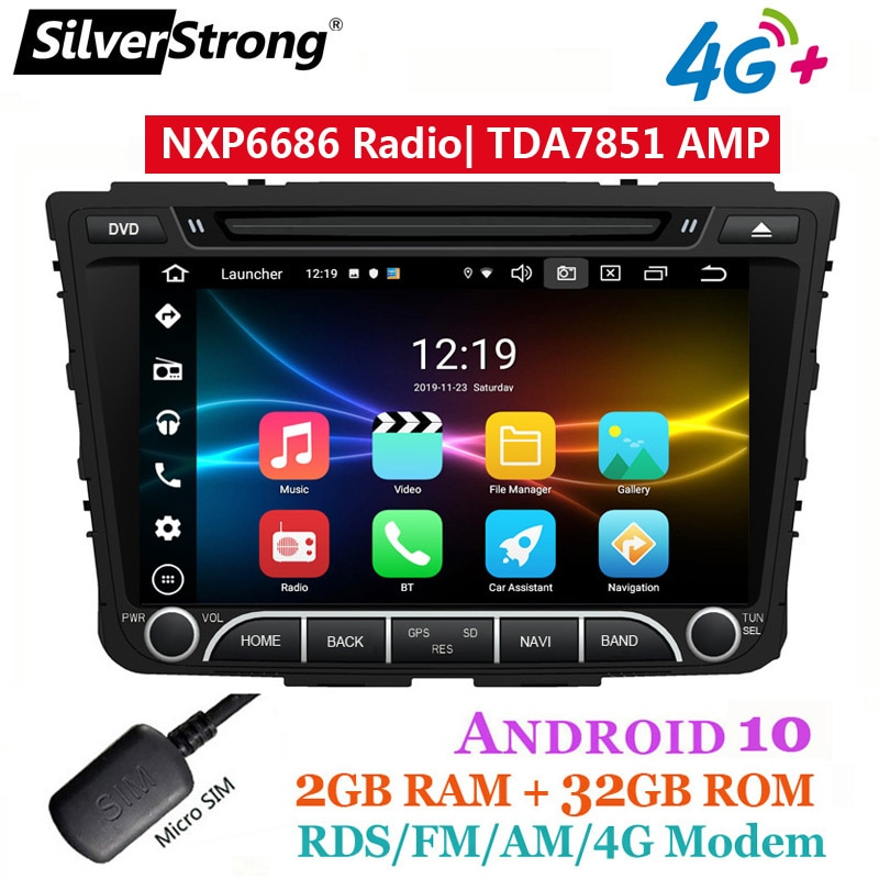 OctaCore-مشغل وسائط السيارة ، شاشة IPS ، 4G ، 64GB ، Creta Car DVD ، android 10 ، GPS ، راديو ، مشغل وسائط ، مودم 4G ، Sim ، إنترنت ، DSP ، لشركة Hyundai ix25 ، Creta