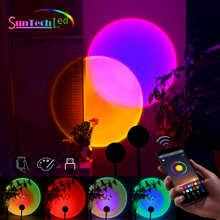 Лампа для проекции заката Suntech, USB Радужная лампа для заката, изменение цвета, управление через приложение, вращение на 180 градусов, лампа для ...