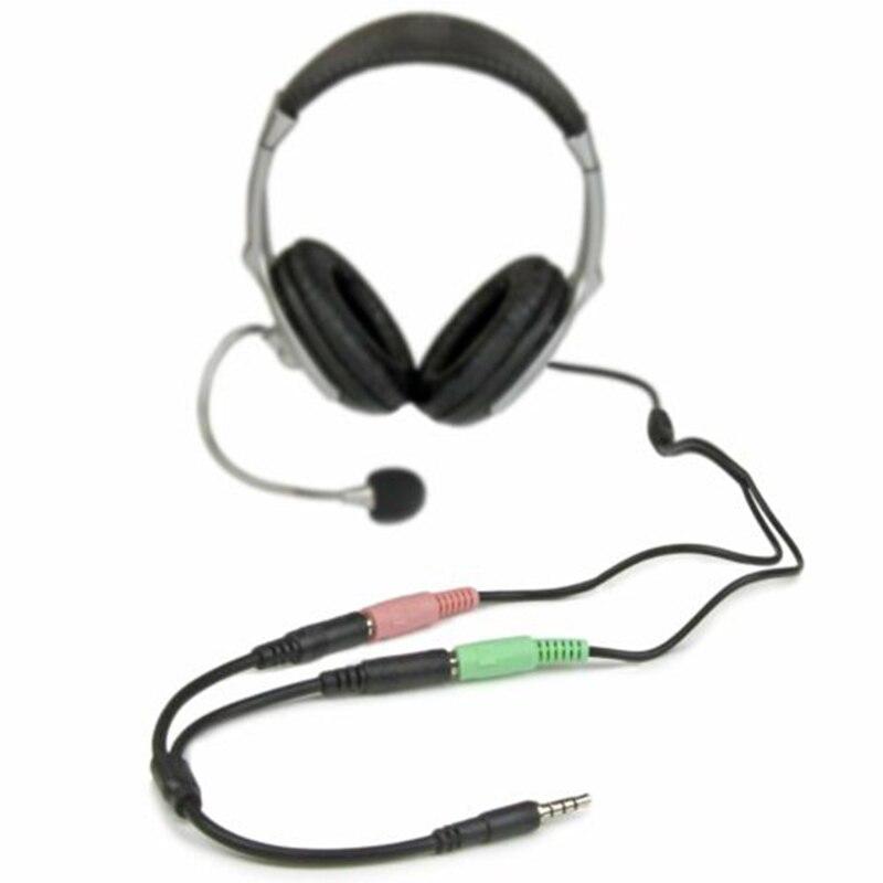 Adaptador portátil de Audio estéreo macho a 2 auriculares hembra, TRRS TPE...