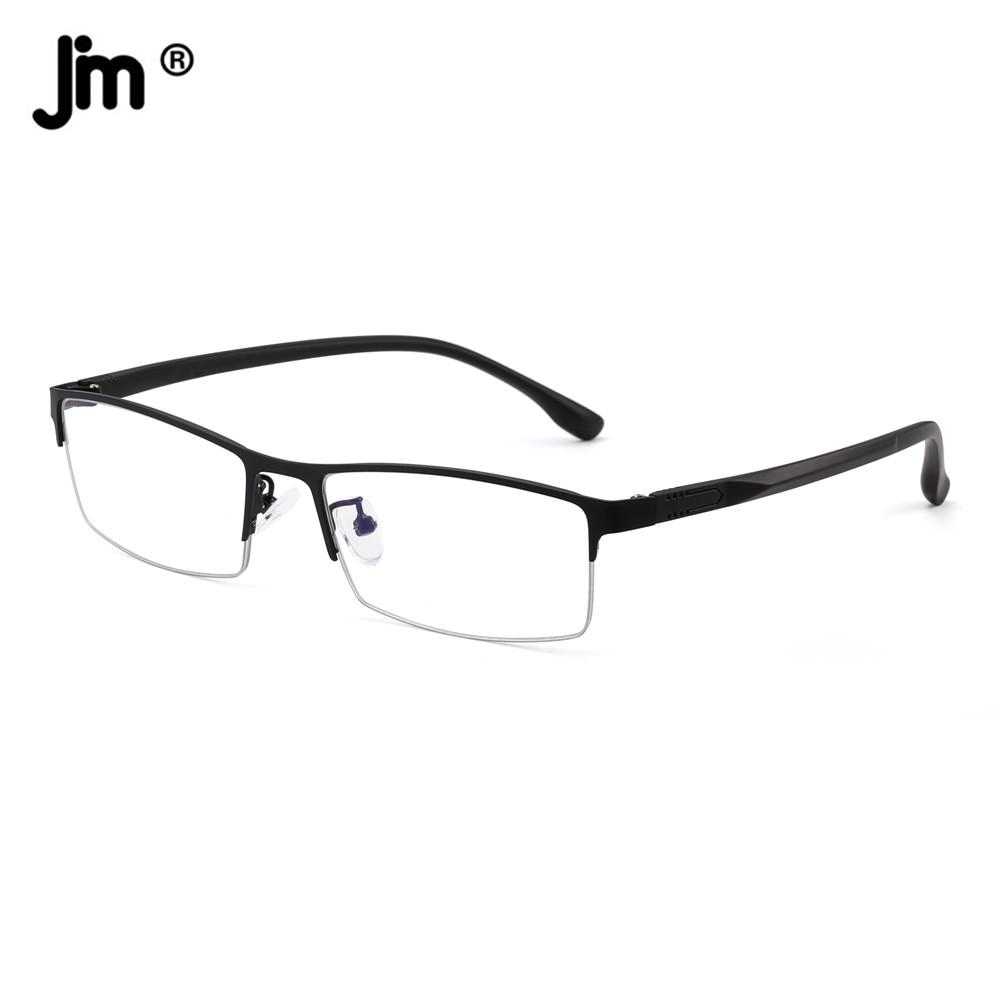 JM Rectangle Blue Light Reading Glasses for Men Magnifier Diopter Presbyopic Reading Glasses sys0076 3 0 diopter reading presbyopic glasses black
