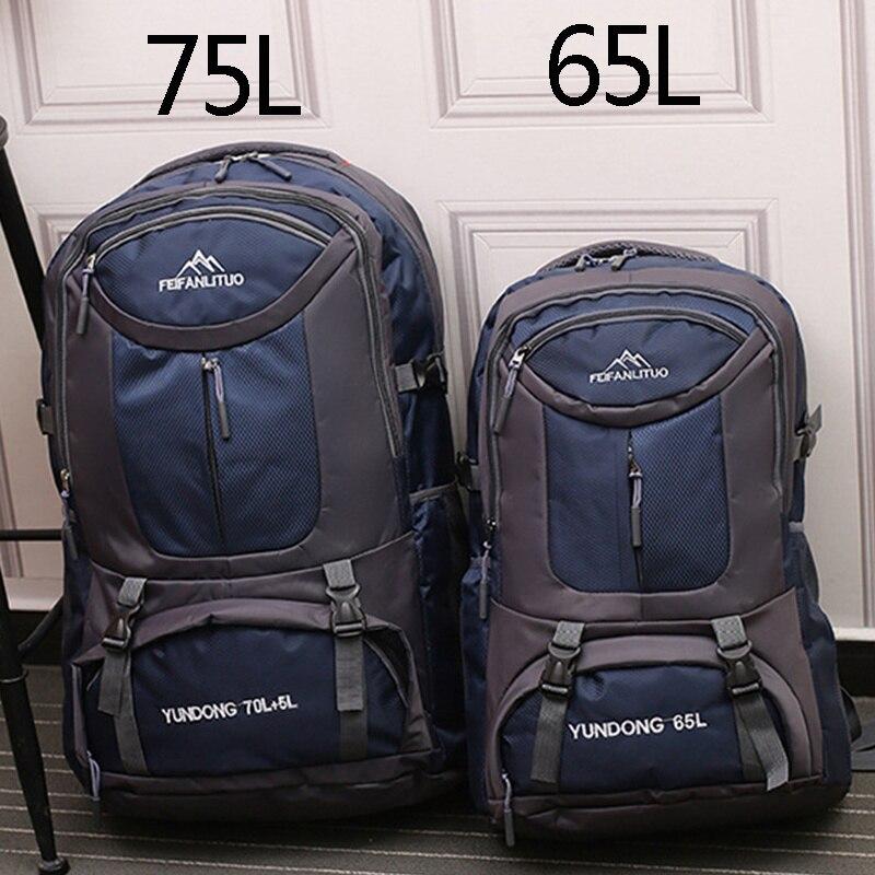 65l 75l unisex masculino à prova dwaterproof água mochila pacote de viagem pacote saco caminhadas ao ar livre escalada недорого