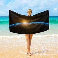nature wonders printed beach towel outdoor sports fitness wicking quick drying bath towel swimming surf shawl