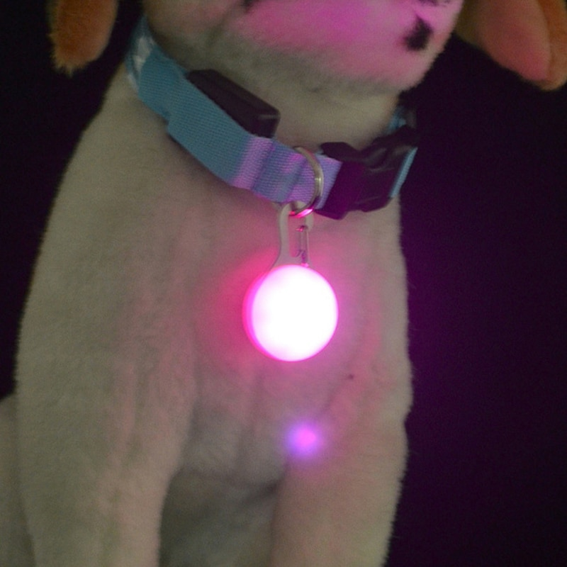 LED Pet Dog Collar Pendant Night Safety Glowing Pendant Pet Products Night Light Collar Pedant Pet Supplies Dog Accessories