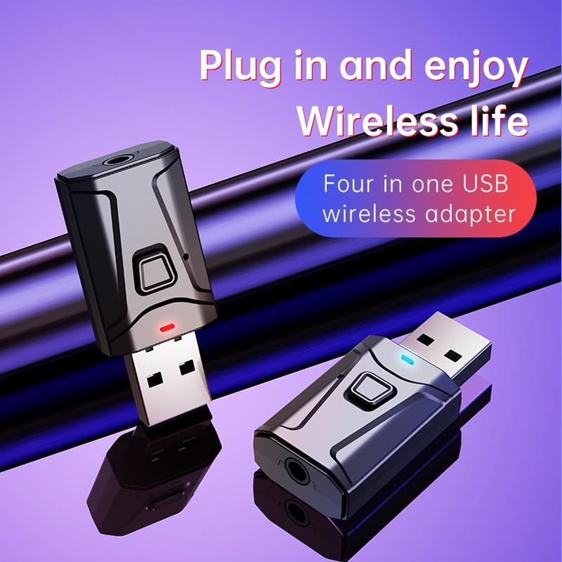 USB Bluetooth 5,0 Audio Receiver Bluetooth Sender 4 IN 1 Mini 3,5mm Jack AUX RCA Stereo Musik Wireless Adapter für TV PC