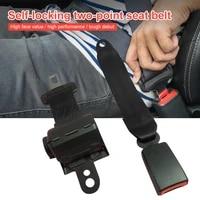 universal car truck seat belt 2 point retractable safety belt strap buckle adjustable truck lap bus van belt auto black access