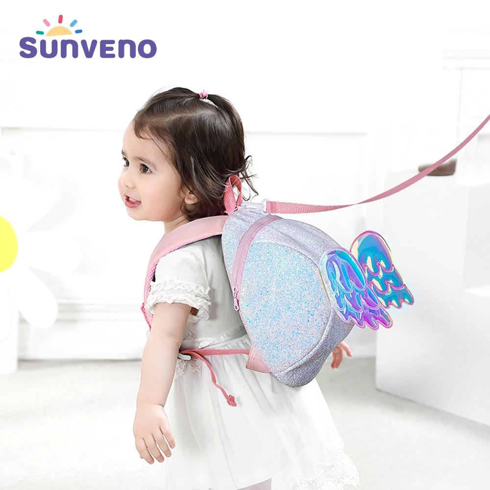 Sunveno-حقيبة ظهر على شكل ملاك كرتوني للأطفال ، حقيبة أمان مضادة للخسارة ، حقيبة مدرسية للأطفال ، حزام أمان للأولاد والبنات
