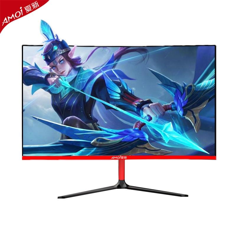 Amoi-شاشة LCD منحنية 2K لسطح المكتب ، شاشة ألعاب مع واجهة HDMI /DP ، 2560 × 1440 بكسل ، 27 بوصة