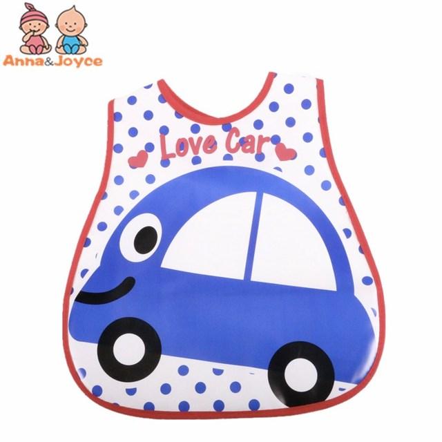 4pc/Lot Baby Bibs Waterproof Cartoon Children Burp Cloths Kids Towel Accessories 6