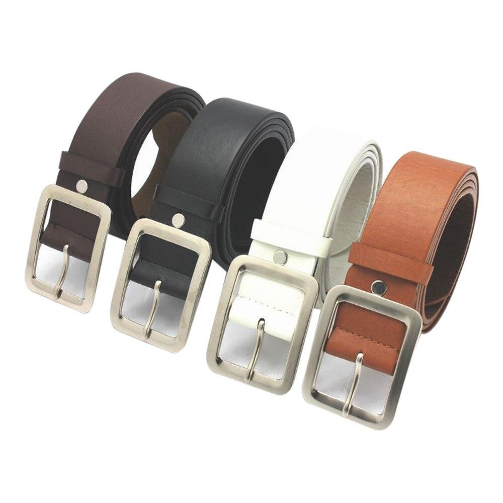 Cinturones de piel sintética Pu a la moda para hombre en 4 colores, cinturón de aleación informal para hombre, cinturón de cintura elegante para hombre y niño, cinturón para estudiantes # T1P