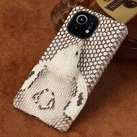 3d snake head snakeskin leather case for xiaomi mi 11 10 ultra 9t 10t lite poco x3 pro f3 cover for redmi note 10 pro 9 8 pro 7