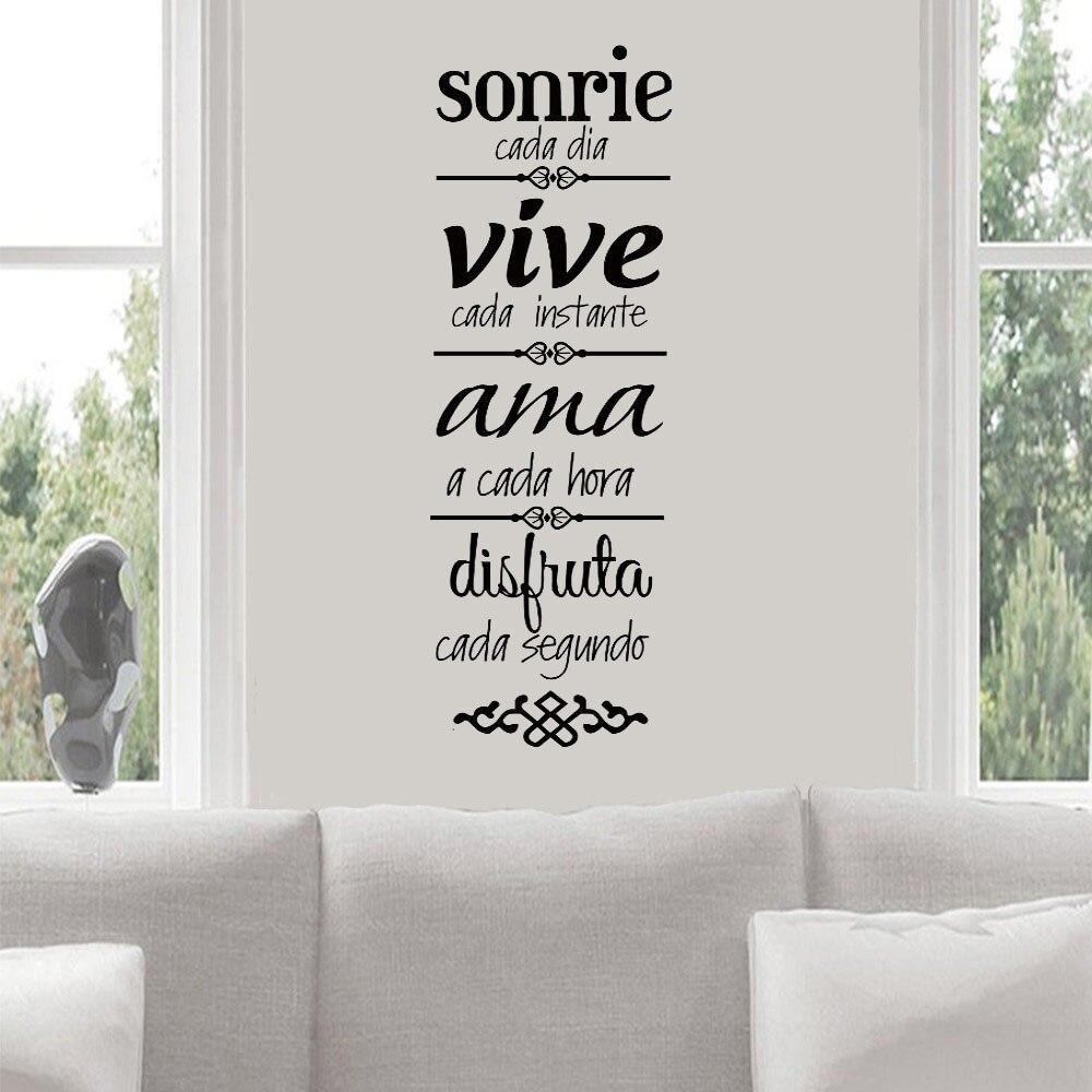 Mais novo espanhol casa regras adesivo de parede normas de casa vinilos decoração para casa