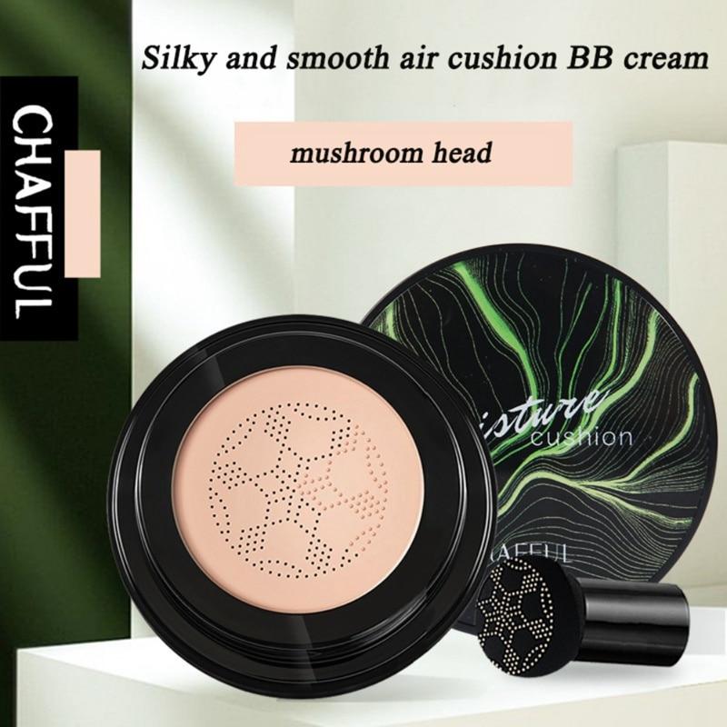 Cabeza de seta cojín de aire crema BB hidratante cubierta imperfecciones incluso tono de piel BB crema cosmética E1