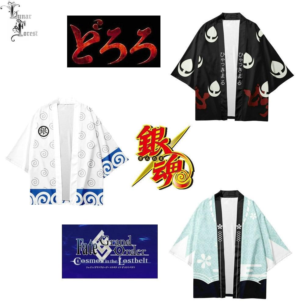 DORORO Gintama FGO Okita Soji стильное японское кимоно с 3D принтом Haori Yukata Косплей для женщин/мужчин Летняя Повседневная крутая уличная одежда