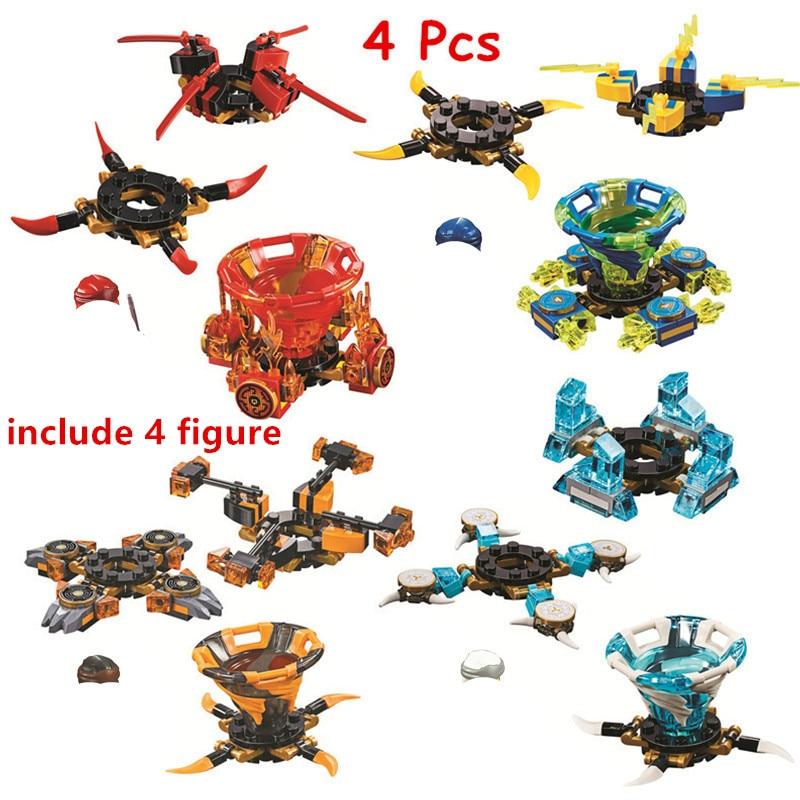 4 teile/los Ninjagoed Spinjitzu Zane Kai Jay Cole Bausteine Kit Bricks Classic Film Ninja Modell Kinder Spielzeug Für Kinder geschenk